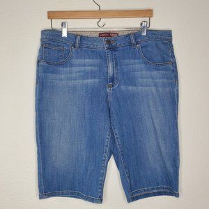 IZOD Light Wash Bermuda Shorts